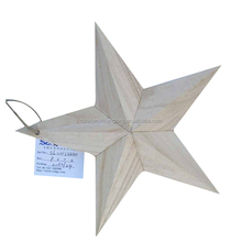 2016 Cheap Christmas decorations Wooden crafts Five-pointed star Wooden trees