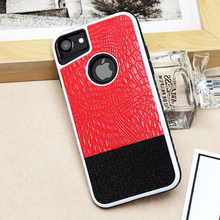 Factory wholesale multi-colors crocodile skin texture phone case for iphone7
