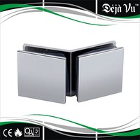 square 45*45 stainless steel bathroom glass clamp with 135 degree