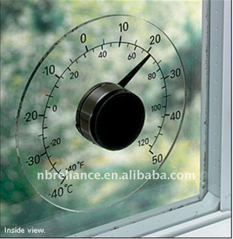 "4 1/4"" Outdoor Window Plastic Thermometer"