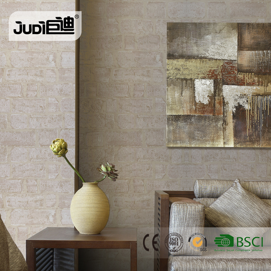 Chinese best price home decor beautiful pvc rolls wall paper