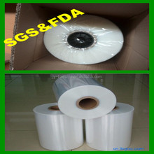 China manufacturer heat shrink packing clear plastic PE PVC POF Polyolefin Shrink Film