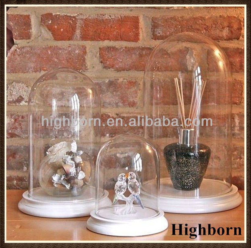customized quartz glass bell Jar without handle with base