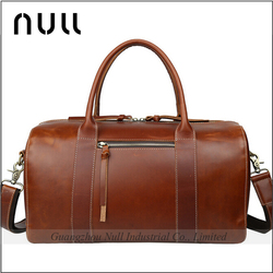Europe Hot Style Genuine Top Layer Cow Leather Men Leather Travel Duffel Bag Parts