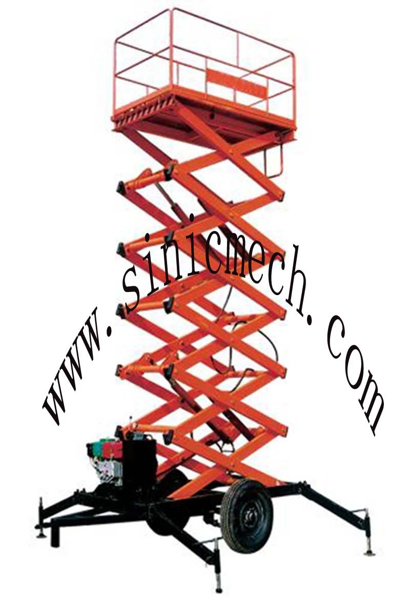 trailer scissor lift/heavy duty motorized lift/machiner