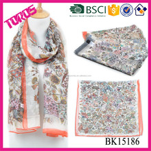 100% polyester fashion magnetic scarf