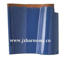lightweight polished blue color spanish type S roof tiles