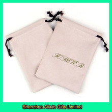 High quality custom drawstring faux suede jewelry bag