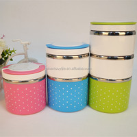 multi layer stainless steel plastic insulated vacuum lunch box