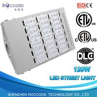 110lm/W silver TUV ETL Energy Efficient 100W Lamp Street with Lumileds LEDs