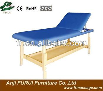 stationary wooden massage table