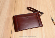 Factory Supply Genuine Cowhide Leather Wallet Men Handbags Leather Business Bag Handbag Caught Larger Volume Wallet