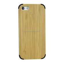 Phone accessories bamboo phone case for iphone 5 5c 5s