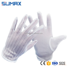Anti Static Stripe Splicing Point Plastic Gloves Wholesale ESD Gloves