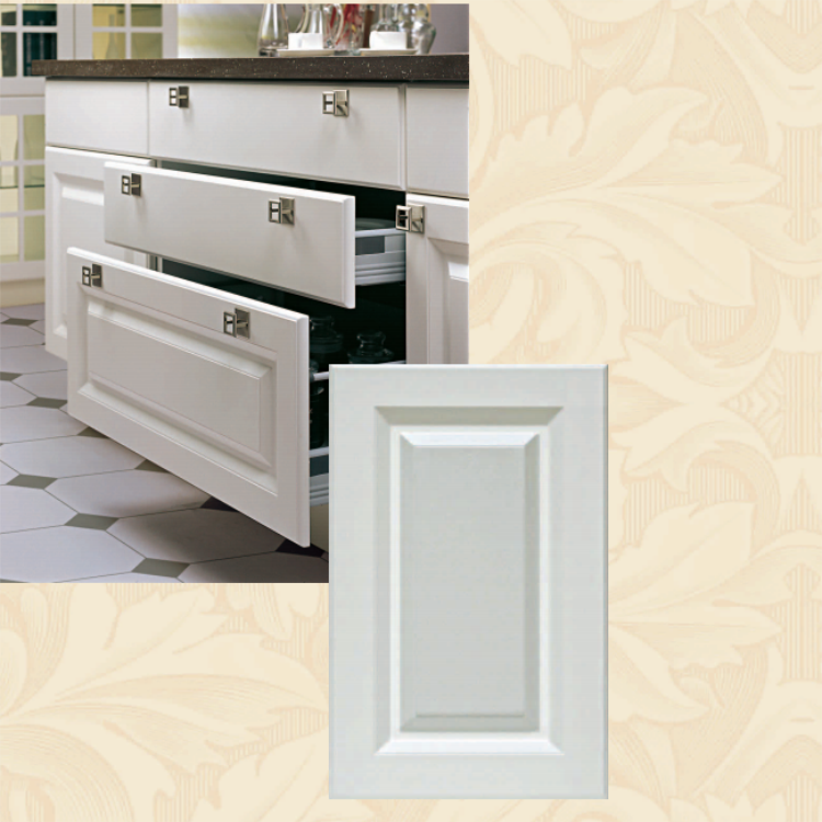 High density board white moulded door for table cabinet