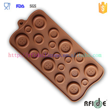 Fastener Shape Candy/Ice/Cake/Chocolate/Sugar Craft Fondant Mold/Tray Silicone Decorating Tools Randomly Color