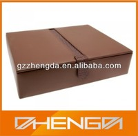 High quality factory customized made brown faux leather box large (ZDS-JS1445)