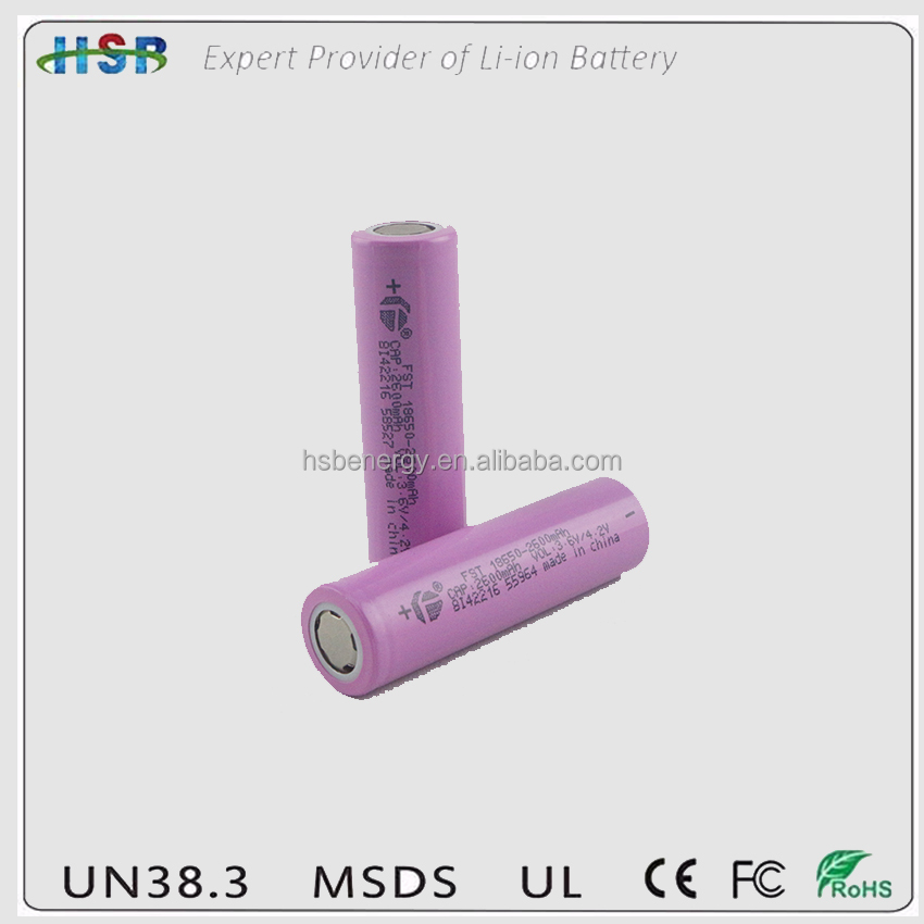 Chinese FST CHANGJIANG with ptc18650 Li Ion Battery 3.7V 2600mAH 9.36 wh