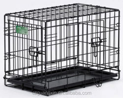 Small Dog Crate Cage Pet Single Door Training Iron Wire Travel Cat Puppy Fold