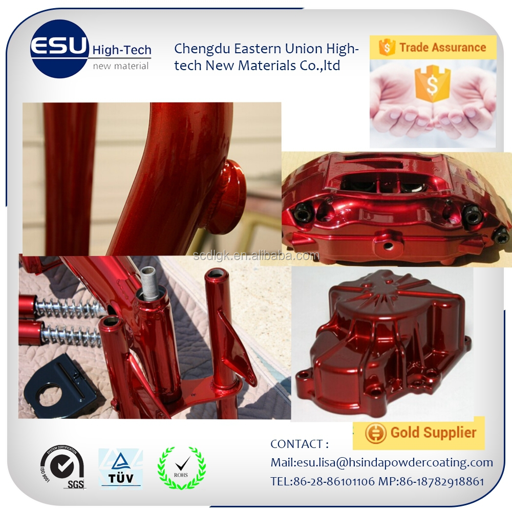 Amazing look candy red mirror silver powder coating for frames trade assurance protect
