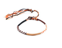 2017 hot sale new style Promotion jewelry sport silk weave rope wrap bracelets