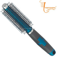 HOT SALE round plastic hair combs with hair brush straightener