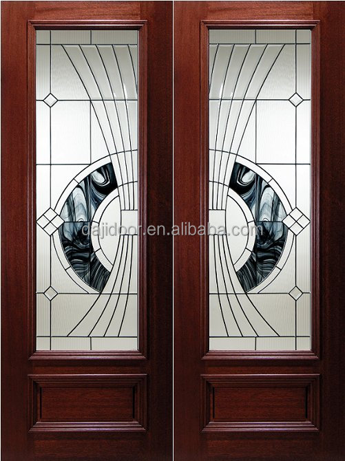 Double Villa Entry Doors In <strong>Wood</strong> DJ-S9156M