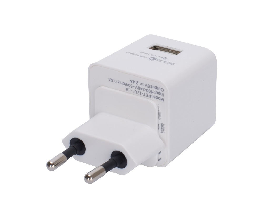 Single Port Super Fast Qualcomm Smart Mobile Phone USB Wall Charger