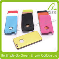 For iphone 5c case TPU+Leather bumper phone protector mobile phone case for apple iphones
