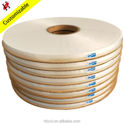 HDPE 08 White Adhesive Resealable Bag Sealing Tape HOPE Double Sticky Tape
