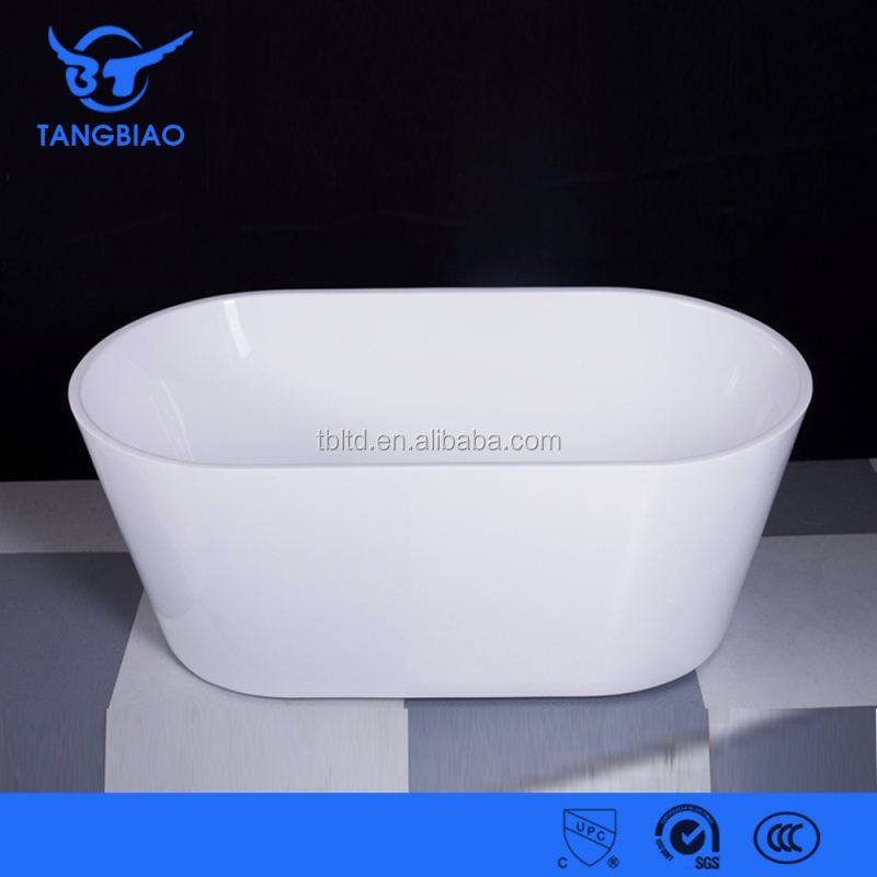 Tb B822 1200mm Small Round Acrylic Bathtub Two Person Free Standing Soaking T