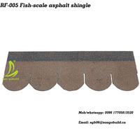 Desert Tan Fish Scale Asphalt Roof Shingles for Roofing