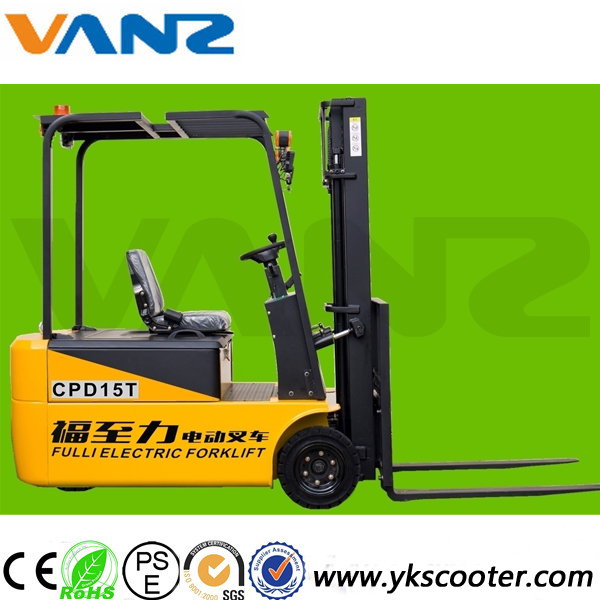 1.5t brand new three wheels electric forklift truck price with AC motor