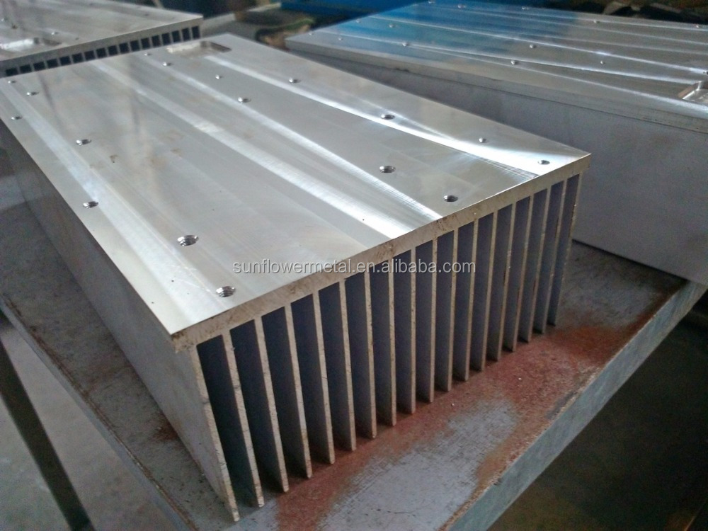 High quality CNC machined large aluminum heat sink extrusion