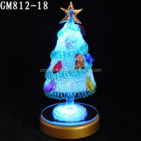 Christmas Day Decorative Glass Tree Sculpture