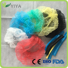 Disposable nonwoven PP bouffant cap hair net mob cap for hospital & food industry with free sample