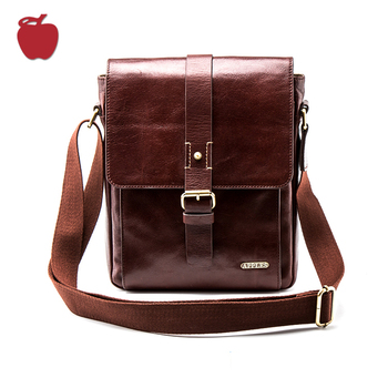 China Manufacturers High-End Genuine Leather Sling Casual Cross Body Bag
