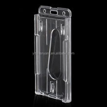 Clear Transparent Vertical Hard Plastic Multi Card ID Badge Holder