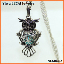 2016 Newest mexican Design owl bola necklace owl diffuser necklace