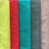 Microfiber solid stripe car wiping towel cleaning dirt and antibacterial easy washing hand towel