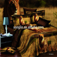 High Quality 3D Printed Lion Bedding Sets Made In China