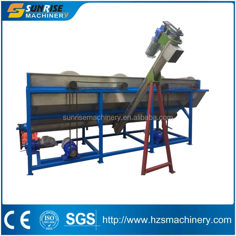 300-500 kgs/h plastic scrap washing line for PP PE FILM