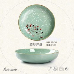 Latest design superior quality stoneware ceramic plates to paint