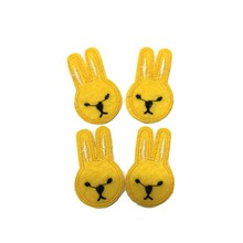 rabbit heat seal badge embroidery patch clothing manufacturers to sew on motifs