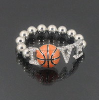 LOVE BASKETBALL FASHION STRETCH BRACELET