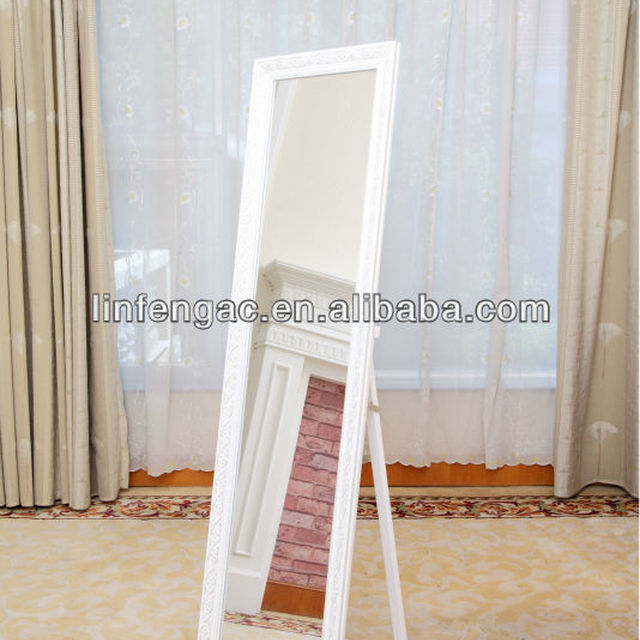 Stand for Floor Mirror White Cheval Mirror 39cm*148cm