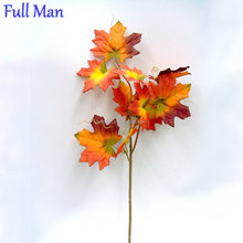 Indoor Decorative Leaves H56cm Autumn Silk Artificial Maple Leaves