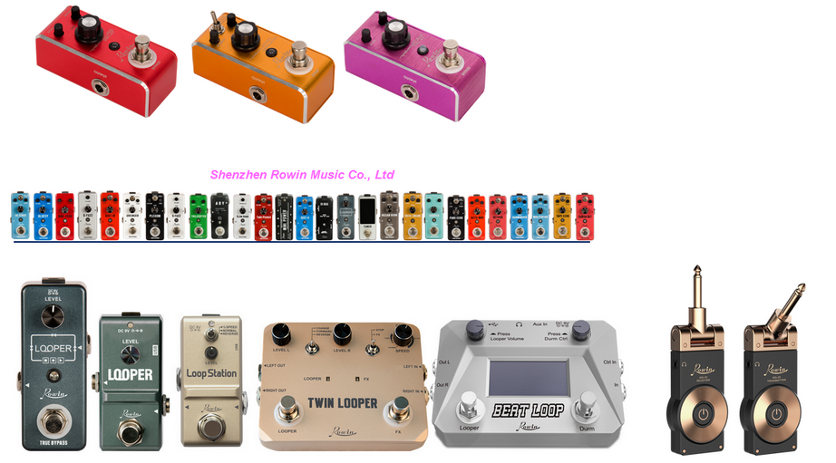 $9.8+/pc Rowin guitar effects&pedals in 600 series