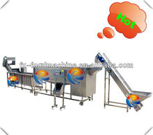 industrial root vegetable washing cleaning peeling skinning blanching disinfection cutting packing production line