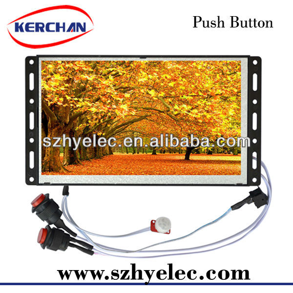 Wall-mounted advertising poster display/7 inch retail store lcd advertising display(SAD0705)